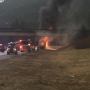 Vehicle fire closes eastbound lanes of I-90 at the pass